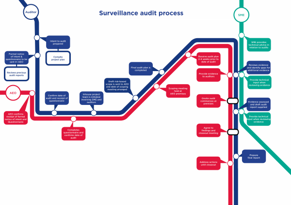AEO Surveillance Audit Process Diagram