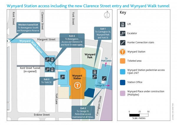 Wynyard Walk Map