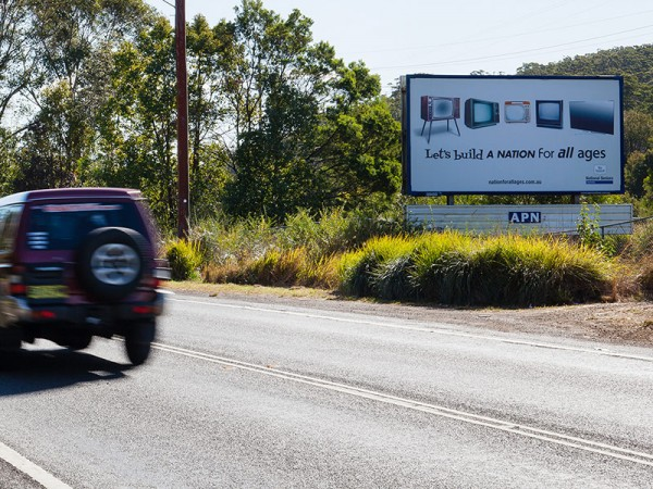 Advertising roadside regional