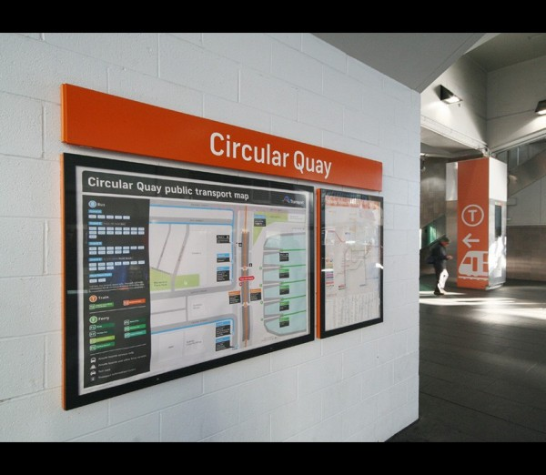 Circular Quay interchange map and train supergraphic