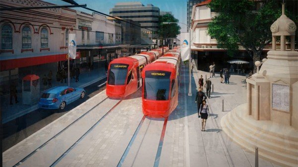 Parramatta Light Rail artist impression