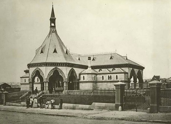 Mortuary Station in c.1871 as viewed from Regent Street.