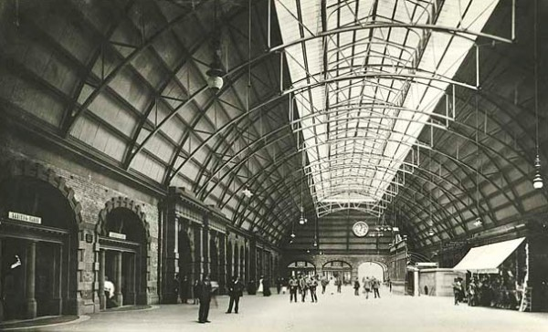 View of Central Station in c.1906, showing the main concourse View of Central Station in c.1906, showing the main concourse