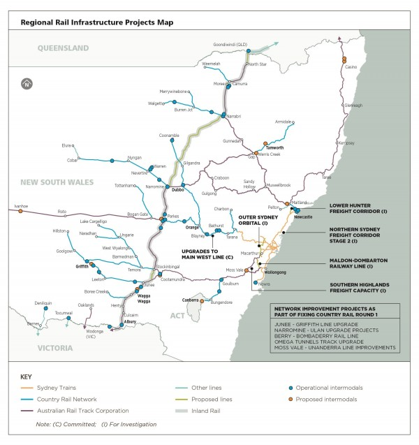 Regional Rail Infrastructure Projects Map