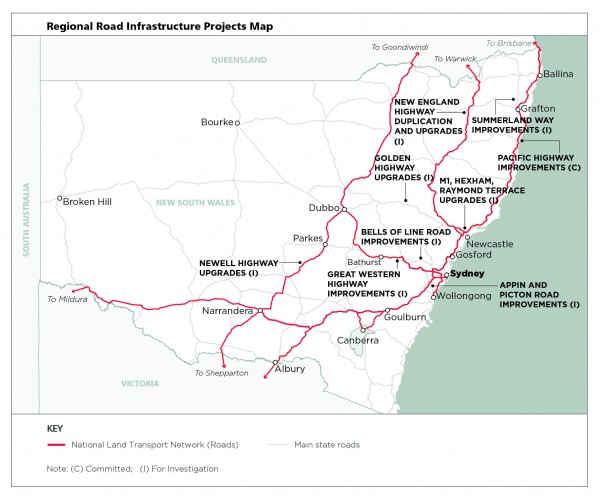 Regional Road Infrastructure Projects Map