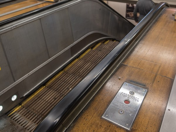 Wynyard Escalators Before Removal. Source TfNSW.