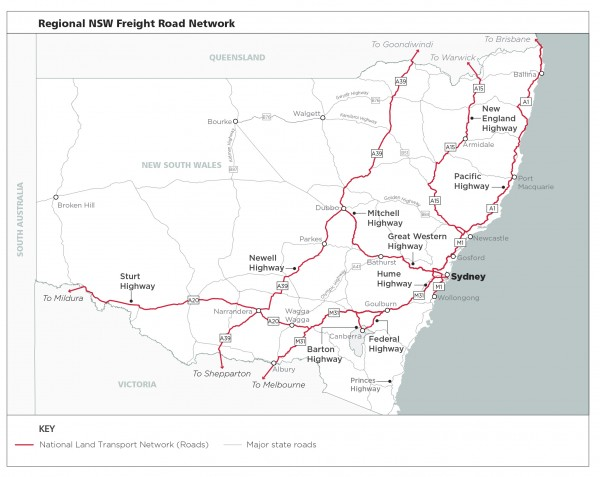Figure 16: Regional NSW road network
