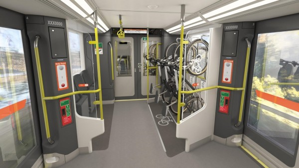 Artist's impression of dedicated space for bulky items and bikes