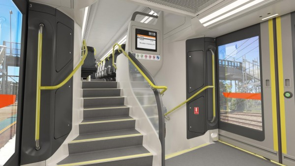Artist's impression of interior view of improved accessible stairs