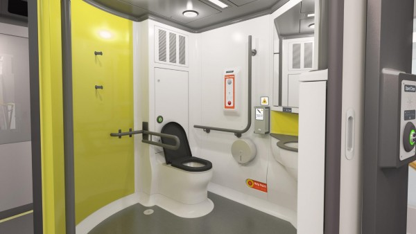Artist's impression of interior view of the accessible toilets
