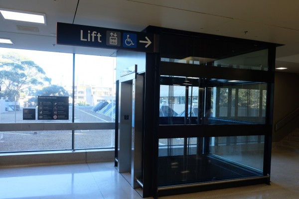 New lift at Edgecliff Station connecting customers from the concourse to the bus interchange