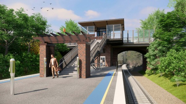 Artist's impression of the proposed Wahroonga Station Upgrade, subject to change during detailed design