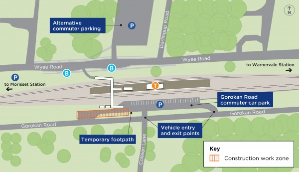 Changes to commuter car park access at Wyee Station