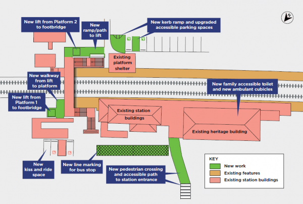 Schematic of the proposed Mittagong Station Upgrade