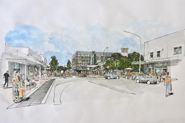 Artist's impression of the additional parking at St Marys Station, subject to detailed design