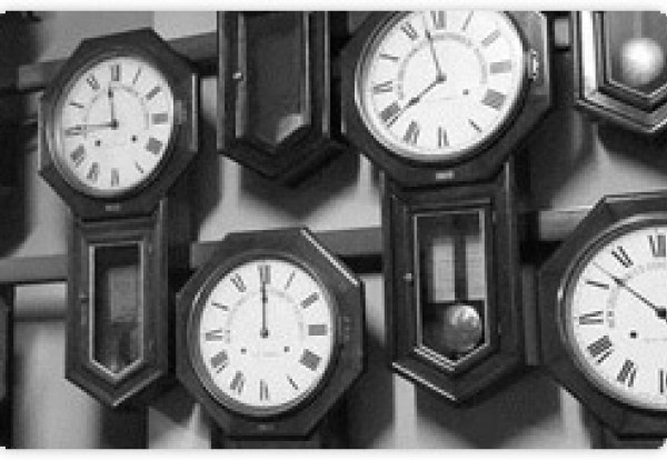 Example of clocks in the Sydney Trains heritage clock collection