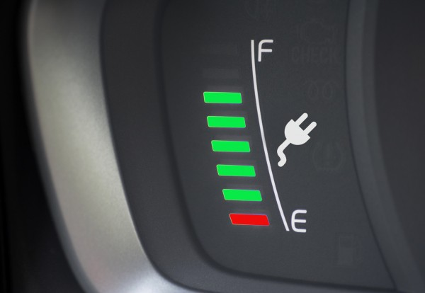 Electric Vehicle range and charging gauge
