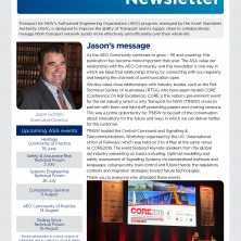 Front cover of the AEO Newsletter June 2018